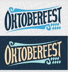 Banners for oktoberfest vector