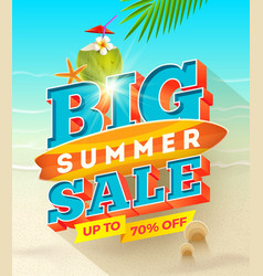 Big summer sale design - summer vacation desiogn vector