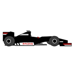 black racing car vector image