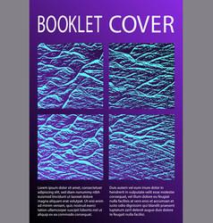 booklet design layout vector image