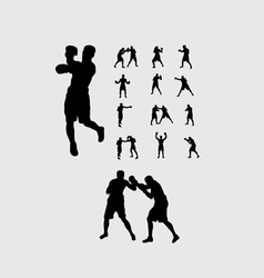 Boxing Silhouettes vector image vector image