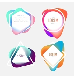 Bright Color frames vector