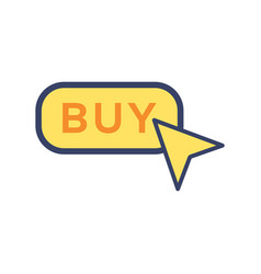 buy button flat icon sign symbol vector image