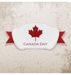 Canada Day realistic Badge with Ribbon vector