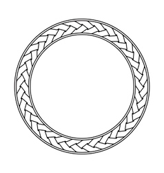 Celtic braid circular frame ornament on a white vector