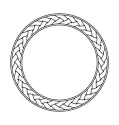Celtic braid circular frame ornament on a white vector