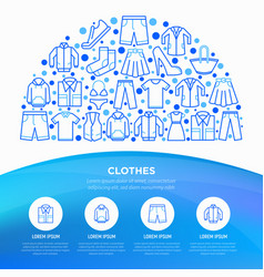 clothing concept in half circle vector image