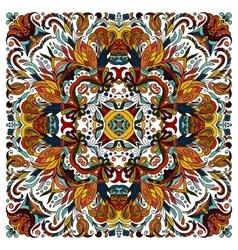 Colorful ornamental floral paisley shawl bandanna vector