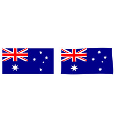 Commonwealth australia flag simple and vector