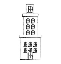contour city building icon image vector image