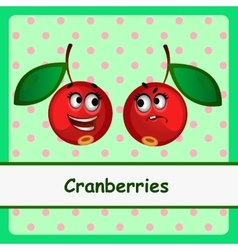 Cranberry funny characters on green background vector