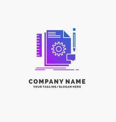 creative design develop feedback support purple vector image