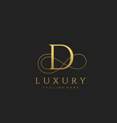 d luxury letter logo design vector image