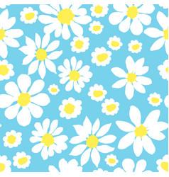 Daisy allover blue vector