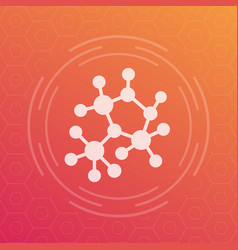 Decentralization compound structure icon vector
