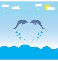 dolpfins vector image