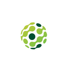 Dot sphere tech connection logo icon vector