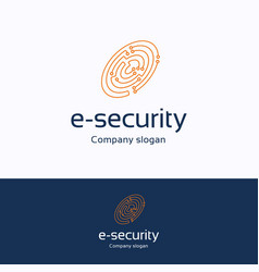 e-security vector image