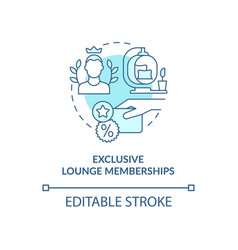 Exclusive lounge memberships blue concept icon vector