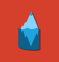 Flat icon design collection iceberg in water vector