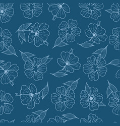 Floral print seamless pattern botanical vector