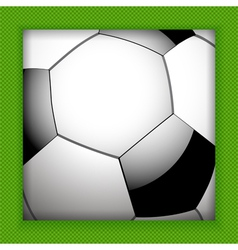 football close up background vector image