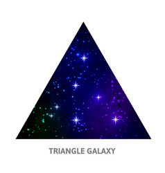 Galaxy triangle background with stars vector