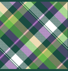 green purple seamless pattern check fabric texture vector image