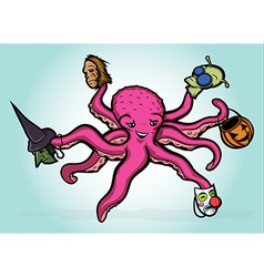 Halloween Octopus vector image