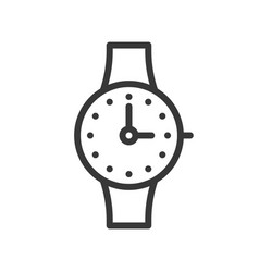 hand watch icon outline design editable stroke vector image