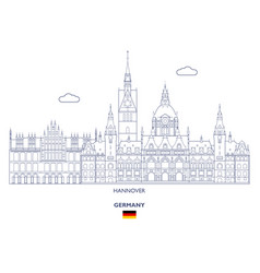 Hannover city skyline vector