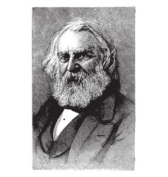 henry wadsworth longfellow vintage vector image