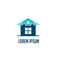 house construction business logo vector image