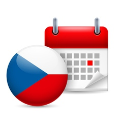 Icon of National Day in Czech Republic vector image