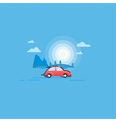 in the flat style car vector image