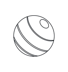 Isolated ball of fitness gym vector