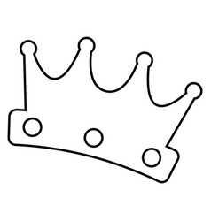 Isolated crown outline vector