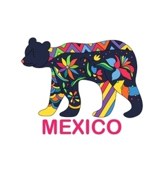 Isolated image of Mexican animal Black vector