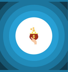 isolated purse flat icon currency element vector image