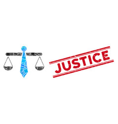 Justice weight mosaic and distress vector