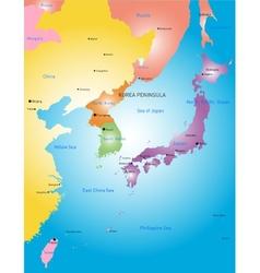 Korea peninsula vector image vector image