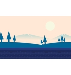 Landscape hill and mountain backgrounds vector