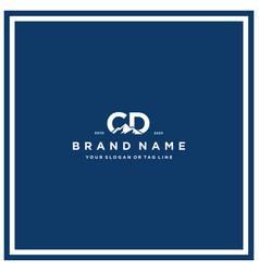 Letter cd mountain logo design vector
