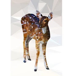 Low poly geometric of deer vector image