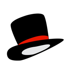 magic hat gentleman hat cylinder with ribbon icon vector image