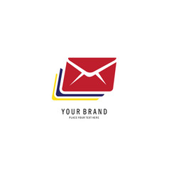 mail abstract symbol logo vector image