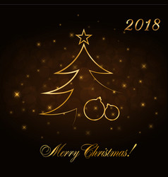 merry christmas celebration abstract background vector image