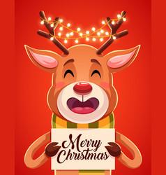 Merry christmas greeting cards retro design vector