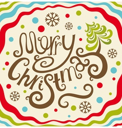 Merry Christmas lettering card vector image
