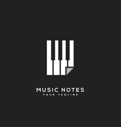music notes logo vector image
